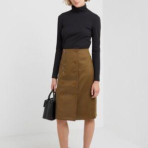 Club Monaco Lavinyah Olive Skirt